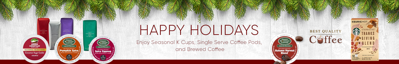 Seasonal and Holiday Coffee - Best Quality Coffee Maud's Righteous Blends Holiday Blend Medium Roast Coffee Pods 48ct