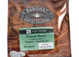 Baronet Coffee French Roast Dark Roast 18ct Coffee Pods