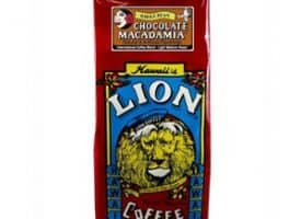 Lion Coffee Chocolate Macadamia Light Medium Roast 10oz