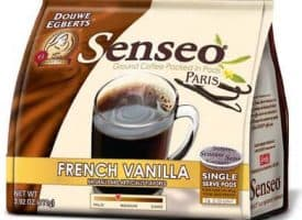 Senseo Coffee French Vanilla Light Roast 96 Count Coffee Pods