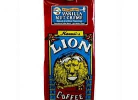 Lion Coffee Vanilla Nut Creme Light Medium Roast 10oz