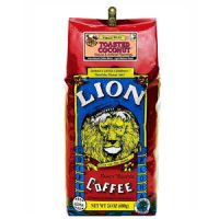 Lion Coffee Toasted Coconut Light Medium Roast 24oz