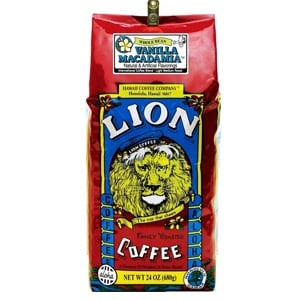 Lion Coffee Vanilla Macadamia Light Medium Roast 24oz