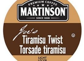 Martinson Joe's Tiramisu Twist Coffee Light Roast Real Cups 24ct