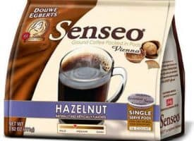 Senseo Coffee Vienna Hazelnut Waltz Medium Roast 96 Count Coffee Pods