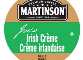 Martinson Joe's Irish Creme Light Roast Real Cups 24ct