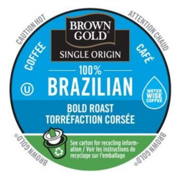 Brown Gold Brazilian Coffee Dark Roast RealCups 24ct