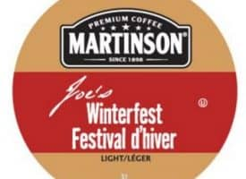 Martinson Joe's Winterfest Light Roast Real Cups 24ct