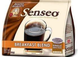 Senseo Coffee Brekfast Blend Light Roast 72 Count Coffee Pods