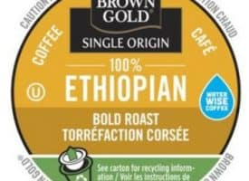 Brown Gold Ethiopian Coffee Dark Roast RealCups 24ct