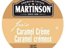 Martinson Joe's Caramel Creme Coffee Light Roast Real Cups 24ct