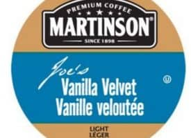 Martinson Joe's Vanilla Velvet Coffee Light Roast Real Cups 24ct