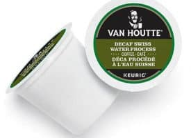 Van Houtte Decaf Swiss Water Fair Trade Organic Coffee Blend Light Roast Kcups 24ct