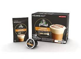 Van Houtte Caramel Macchiato Coffee Light Medium Roast Kcups 12ct
