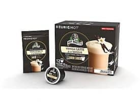 Van Houtte Vanilla Latte Coffee Light Medium Roast Kcups 12ct