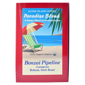 Aloha Island Kona Bonzai Pipeline Dark Roast Coffee Pods 24 Count
