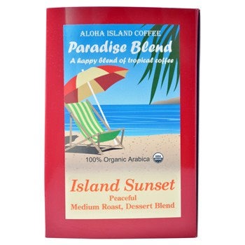 Aloha Island Kona Paradise Blend Medium Roast Coffee Pods 18 Count