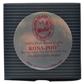 Aloha Island Kona Espresso Dark Roast Coffee Pods 12 Count
