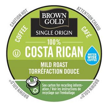 Brown Gold Costa Rican Coffee Light Roast RealCups 24ct