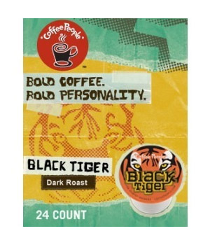 Coffee People Black Tiger Dark Roast K cups® 24ct