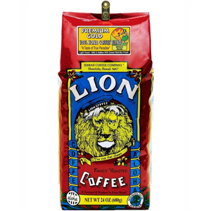 Lion Coffee Premium Gold Light Medium Roast 24oz
