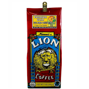 Lion Coffee Premium Gold Light Medium Roast 7oz