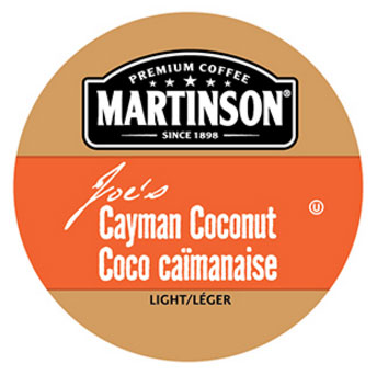 Martinson Joe's Cayman Coconut Coffee Light Roast Real Cups 24ct