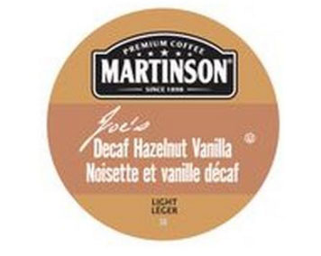 Martinson Decaf Hazelnut Vanilla Light Roast Real Cups 24ct