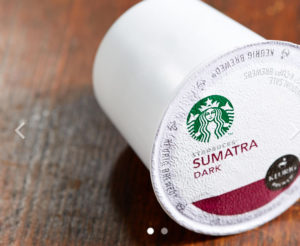 Starbucks Sumatra Blend Dark Roast K Cup 32ct