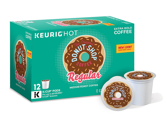 The Original Donut Shot Coffee Regular Medium Roast Extra Bold 72 Count K cups®