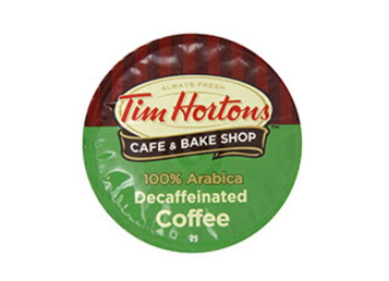 Tim Horton's Decaf Arabica Dark Roast Coffee Single Servce Coffee Cups 24ct