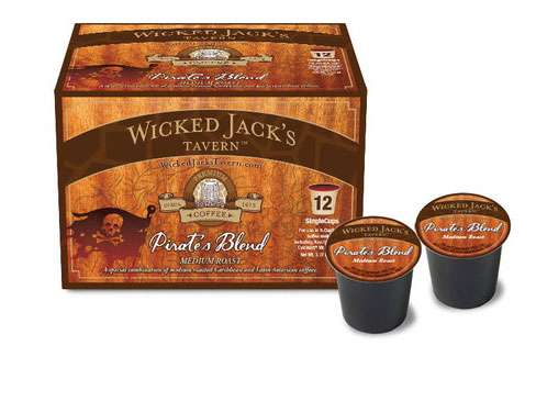 Wicked Jack's Wicked Jacks' Pirate Blend Coffee Medium Roast K cups® 12ct