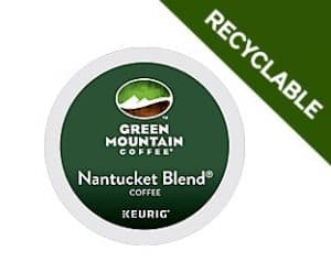 Green Mountain Coffee Recyclable Nantucket Blend Dark Roast K cups®  24ct