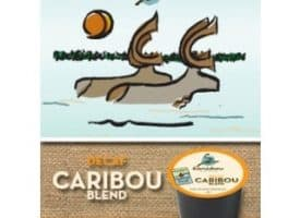 Caribou Coffee Decaf Caribou Blend Medium Roast Kcups 24ct