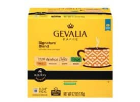 Gevalia Decaf Signature Blend Medium Roast Kcups 18ct