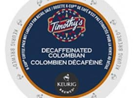 Timothy's Decaf Colombian Medium Roast KCups 24ct