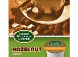Green Mountain Coffee Decaf Hazelnut Light Roast Kcups 24ct