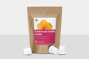 HiLine Coffee Hawaiian Kona Blend Medium Roast Coffee Pods 10ct