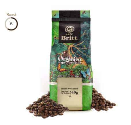 Cafe Britt Organic Costa Rican Medium Roast Coffee 12oz