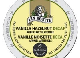 Van Houtte Decaf Vanilla Hazelnut Light Roast KCups 24ct