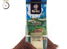 Cafe Britt Colombian Nariono Volcanico Medium Roast Coffee 12oz