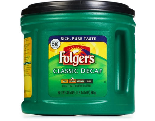 Folgers Decaf Classic Roast Medium Roast Ground Coffee 30.5 oz