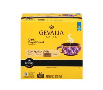 Gevalia Dark Royal Dark Roast Kcups 18ct