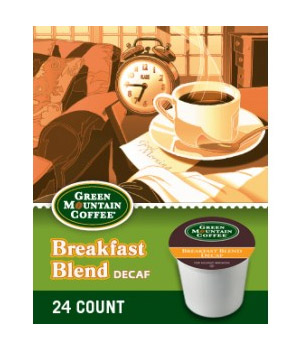 Green Mountain Coffee Decaf Breakfast Blend Light Roast Kcups 24ct