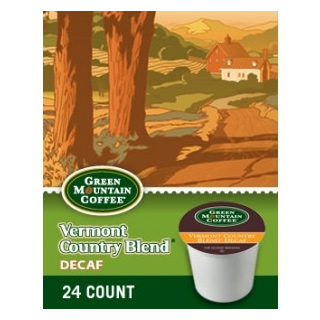 Green Mountain Coffee Decaf Vermont Country Blend Dark Roast KCups 24ct