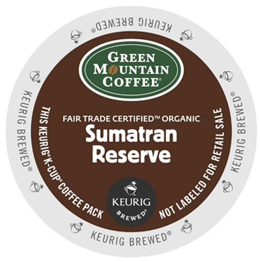 Green Mountain Coffee Organic Double Sumatran Reserve Dark Roast Kcups 24ct