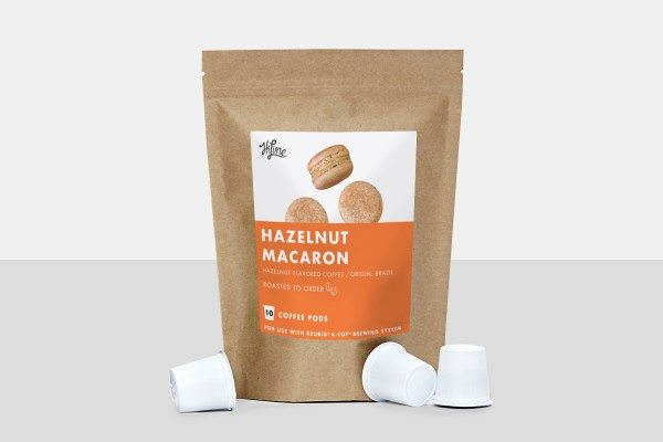 HiLine Coffee Hazelnut Macaron Medium Roast Coffee Pods 10ct