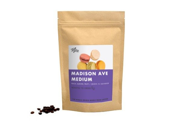 HiLine Coffee Madison Ave Medium Roast Whole Bean 16oz