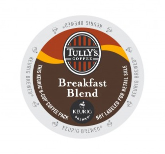 Tully's Coffee Breakfast Blend Light Roast Kcups 96ct