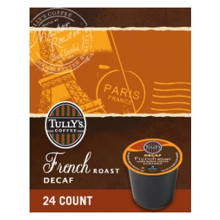 Tully's Coffee Decaf French Roast Dark Roast KCups 24ct